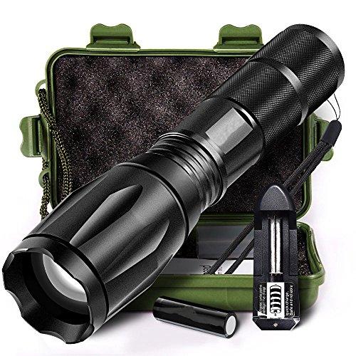 1 Set 5000LM Zoombar LED Taschenlampe, Siswong Einstellbarer Fokus Nicht gleiten CREE XM-L T6 5 Modus Draussen Tragbar Jagd Tactical Flashlights Laternen Stirnlampe