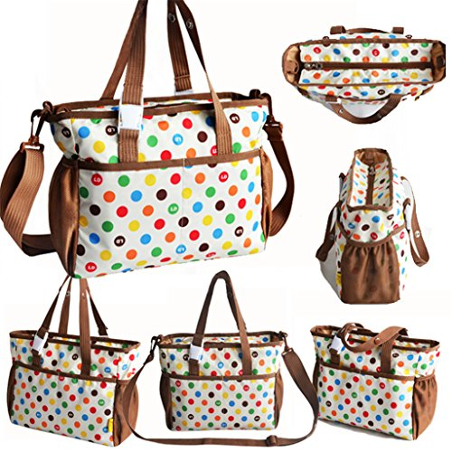 Wickeln Tasche mit verstellbarer und abnehmbarer langer Riemen Style11 Colorful Polka Dot