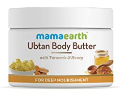 Mamaearth Ubtan Body Butter with Turmeric & Honey For Dry Skin, For Winters For Deep Nourishment (200g)