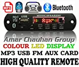 #1: GJ Bluetooth FM USB AUX Card MP3 Stereo Audio Player Decoder Module Kit with Remote for Audio Amplifier DIY