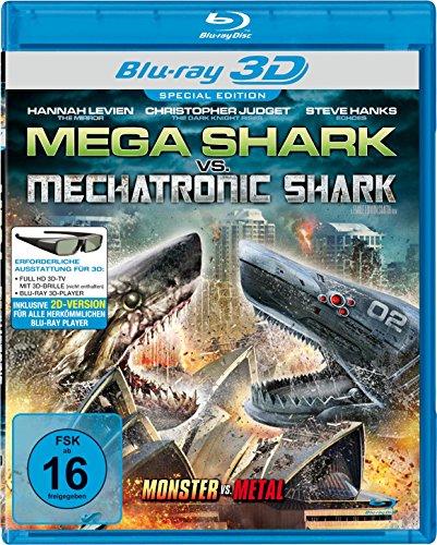 Bild von Mega Shark vs. Mechatronic Shark  (inkl. 2D-Version) [3D Blu-ray]
