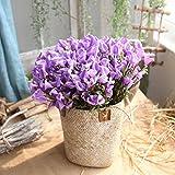 huichang Unechte Blumen Callalilie, 1 Strauß Künstliche Blumen zur Dekoration Haus Garten Party Blumenschmuck (Helles Lila)