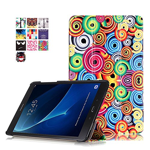 Tab A6 Case,Hülle Samsung Galaxy Tab A 10.1 - PU Leder Cover Case Stand Schutzhülle Flip Etui Tasche für Samsung Galaxy Tab A6 10.1 Zoll SM-T580N / SM-T585N Tablet Hülle Schutzhülle,Bunte Wirbel A6-tablett