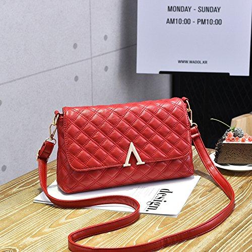 Femmina LiZhen nuovi pack di trasporto atmosferico selvatici coreano moderno piccolo pacchetto pelle morbida tote bag spalla un cross-pacchetto, royal blue Vino rosso