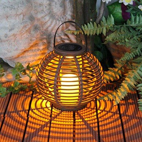 PINCHU Imprägniern Sie LED-Solarbetriebene Kerzen-Laterne mit Flackerndem Solarlampe-Im Freienem Dekorativem Solarlicht