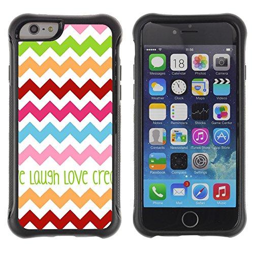 Graphic4You CHICKEN AND WAFFLES Muster Shockproof Anti-Rutsch Weichen Hülle Case Tasche Schutzhülle für Apple iPhone 6 / 6S Design #6