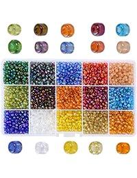 13b7fc4ca70d Efivs Arts - 2500 cuentas multicolor de 6 mm para pulseras