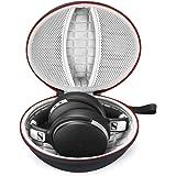 Hårt fodral för Sennheiser HD 4.40 BT/HD 4.50 BTNC Bluetooth trådlösa hörlurar, resväska förvaringsväska – svart (grå foder)