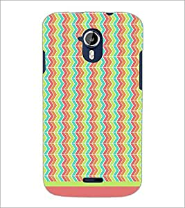 PrintDhaba Zig Zag Pattern D-1701 Back Case Cover for MICROMAX A116 CANVAS HD (Multi-Coloured)