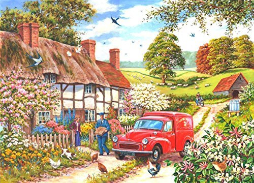 big-250-piece-jigsaw-puzzle-daily-delivery-postman-in-village