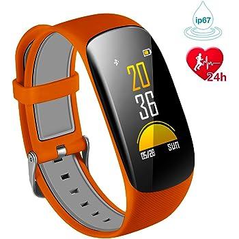 Karseen Fitness Tracker H2Plus Reloj inteligente resistente al agua con pantalla OLED color con monitor de