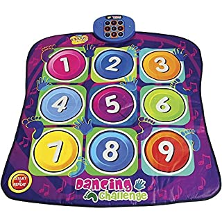 Alisable Children Electronic Musical Playmat Non-slip Dance Pad Dancing Mat Musical Play Mat Sensitive Zippy Toys(Numbers Style)