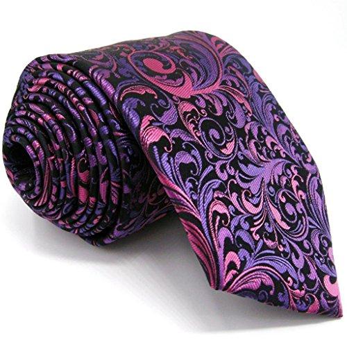 shlax e ali viola Cravatte per uomo floreale Ties Wedding