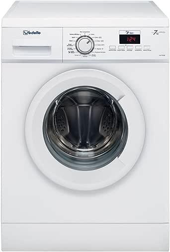 Vedette VLF722W Autonome Charge avant 7kg 1200tr/min A+++ Blanc machine à laver - Machines à laver (Autonome, Charge avant, Blanc, Gauche, LCD, Blanc)