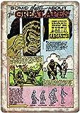 The Great Apes Comic Étain Mur Signe Affiche de Fer Métal Mur étain Panneau Attention Plaque Rétro décoration Murale pour Café Bar Hôtel Jardin Parc