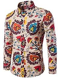 0bcb014c3cf8d Jaminy Men s Shirt Plus Size Slim Fit Long Sleeve Casual Button Shirts  Formal Top Blouse