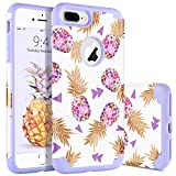BENTOBEN Coque iPhone 8 Plus Ananas, Coque pour iPhone 7 Plus, Protection Antichoc...