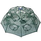 Goture Portable piegato rete da pesca di pesce gamberetti Minnow gamberi granchio esche cast mesh trappola automatico, Automatic 8 sides 16 Holes