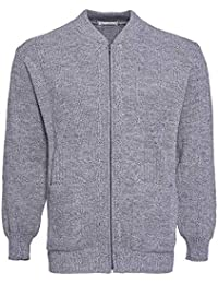 595ed01d3d Mens Knitted Cardigan Classic Style Cardigans V Neck Zipper Jumper Plain  Coloured