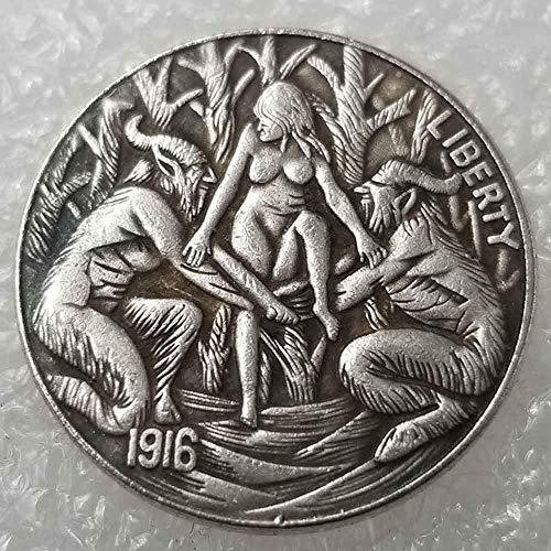 DDTing 1916 Morgan Münzen - Fünf Cents Hobo Nickel Münze - Unzirkulierte alte Münze - USA Old Morgan Gedenkgeschenk Coin-It's 's 's Handmade Crafts GoodService -