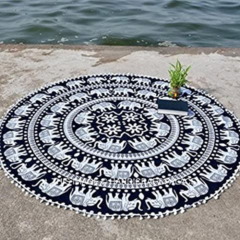 Internet Hippie Ronde Tapisserie Ronde Mandala Plage Serviette Yoga Mat