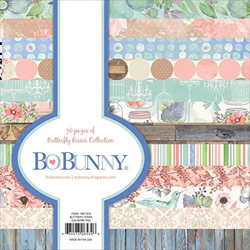 Bo Bunny 12x12 Paper (Bo Bunny BoBunny einseitig Papier Pad 6x 63butterfly Kisses, 12Designs/3Jedes, Acryl, Mehrfarbig, 3-teilig)
