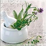 artissimo, Glasbild, 20x20cm, AG1333A, Herbs II, Küche, Küchenbild, grün, Bild aus Glas, Moderne Wanddekoration aus Glas, Wandbild Wohnzimmer modern