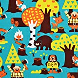 MAGAM-Stoffe ''Vincent - Canadian Forest'' Jersey Kinder-Stoff Bio-Qualität | Meterware ab 50cm | SX