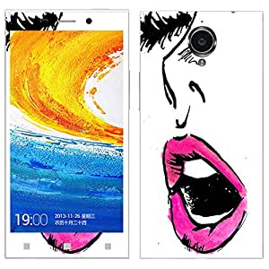 Theskinmantra Pink Lips Gionee Elife E7 mobile skin