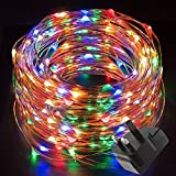 LE 10m LED Multi-colour Copper Wire String Lights Waterproof, 100 LEDs Starry String Lights, Decorative Rope Lights Firefly Lights for Valentine's Day, Party, Wedding, Garden, Festival, DIY - Lighting EVER - amazon.co.uk