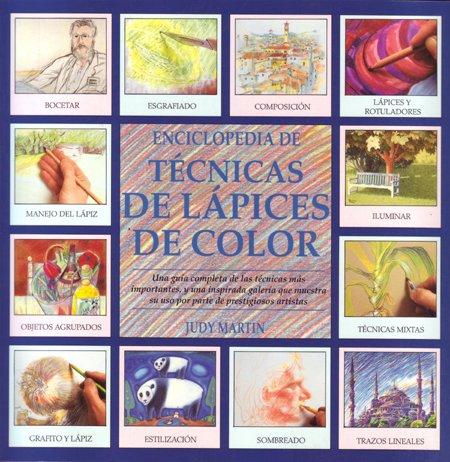 Enciclopedia de técnicas de lápices de color por Judy Martin