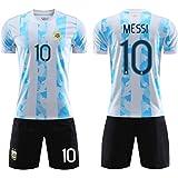 Camiseta con escudo del equipo bordado de Argentina No. 10 Messi visitante Neymar Uniformes de la selección nacional de Brasi