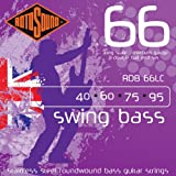Rotosound Swing Bass Jeu de cordes pour basse Acier inoxydable Filet rond Tirant light (40 60 75 95) Extrémités à double boule (Import Royaume Uni)