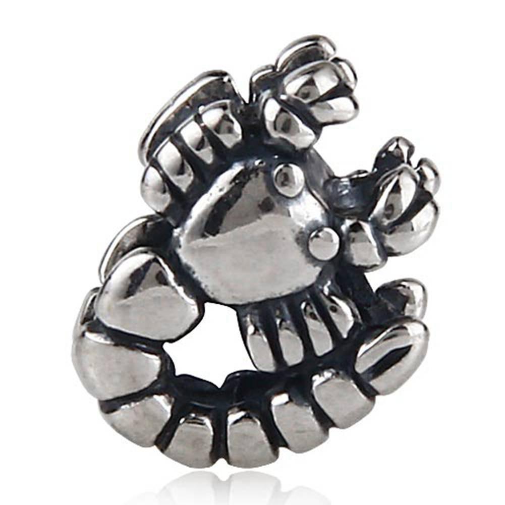 Scorpion fascino Genuine 925�sterling Silver Animal Bead Fits DIY europeo braccialetto gioielli