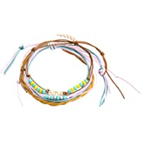Verlike 4 Pezzi/Set Cavigliera per Ragazze Donne, Multistrato Colorato in Rilievo Spiaggia Sandalo A Piedi Nudi…