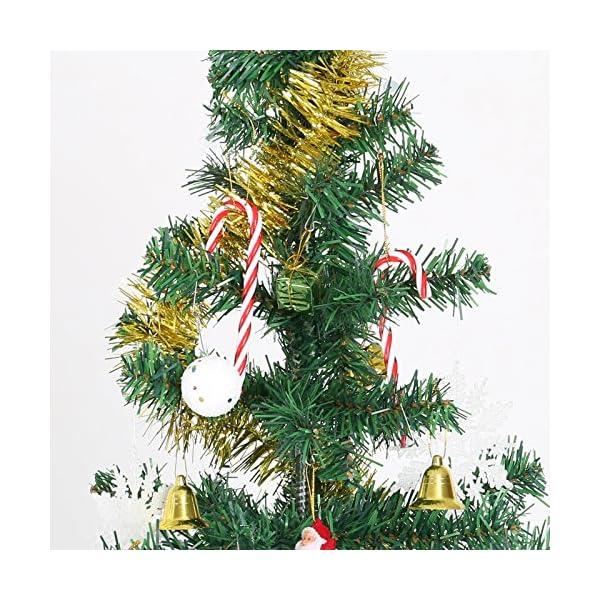 Naler 12PCS plastica Albero di Natale Rosso e Bianco Candy Cane Hanging Wall Home Party Decorazioni Ornamenti 5 spesavip