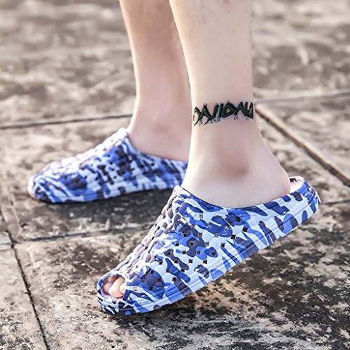 ZXCV Scarpe allaperto Uomini esposti Mezze scarpe traspiranti Sandali Foro Scarpe Uomo Scarpe da spiaggia in mesh Pantofole pigre Maschio D