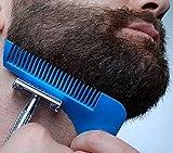Bart-Formwerkzeug, YooGer Bart-Fellformer und Styling-Vorlagen-Kamm für Mann (Königsblau)