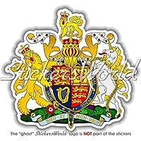 Regno Unito Royal stemma distintivo Crest UK 90mm (9,1cm) in vinile adesivo paraurti, decalcomania