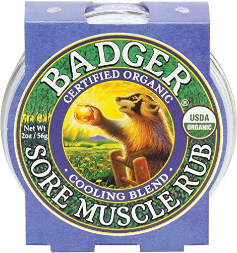 Badger Sore Muscle Rub Mischung Kühlung / 2 Unzen -