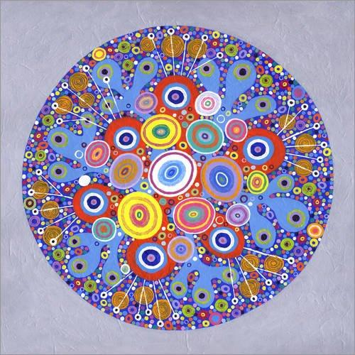 Poster 30 x 30 cm: Mandala 1 von David Newton/Bridgeman Images - Hochwertiger Kunstdruck, Neues Kunstposter