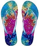 Showaflops Fille antimicrobien Douche et eau Sandales pour Camp, plage et piscine–Tie Dye, Fille, Diagonal Stripe, bleu/rose