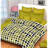 Bedsheets For Double Bed Cotton With Pillow Cover With 180TC Queen Size Cotton Printed Bedsheet With 2 Pillow Cover (Size- Bedsheet 90 X 100 Inch., Pillow 27 X 17 Inch.) By Kiaan Homes