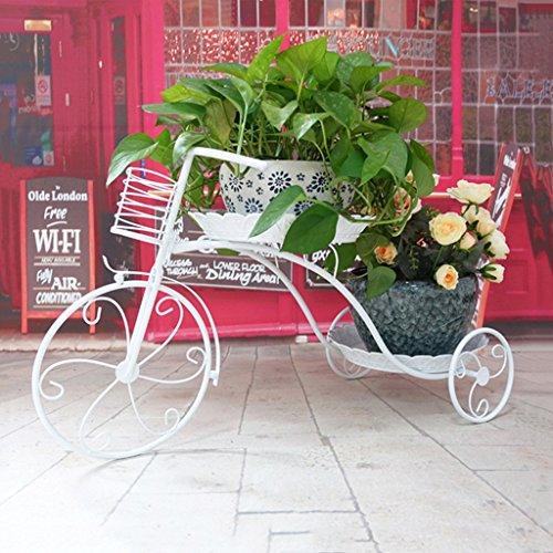 Blumen-Racks Blumenregale Eisen Metall Stehende Blumenregal Fahrrad Pastorale für Pflanzen...