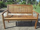 Benelando 2-Sitzer Gartenbank aus Akazienholz