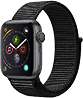 Apple Watch Series 4 (GPS) 40 mm Aluminiumgehäuse, Space Grau, mit Sport Loop, Schwarz
