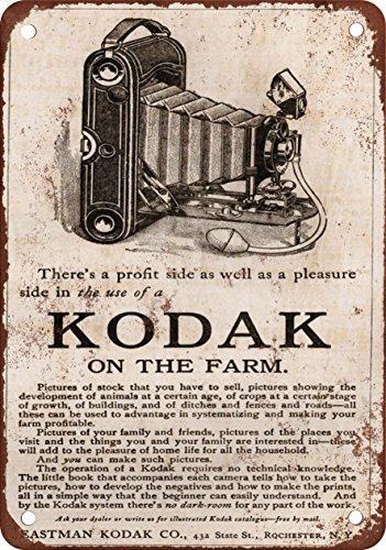 1912fotocamere Kodak Look Vintage Riproduzione in metallo Tin Sign 20,3x 30,5cm