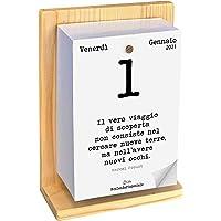 Calendario Geniale 2021. L'Originale. Supporto Legno di Abete Naturale. Idea Regalo. L'unico con Bonus digitali. Leggi…
