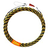 Akuoly Fisktejp 20 m elektrisk kabel dragstänger 6,0 mm diameter, 3 trådar vridna med styrfjäder, perfekt för kabelläggning,