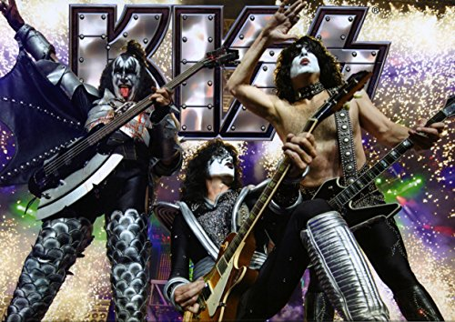 ula Bear Poster Kiss 30 Paul Stanley Gene Simmons Tommy Thayer Eric Singer Gers Rock Metal Folk Blues Rock and Roll Album Cover Design Musik Band Photo Picture Unique Print, Pappe, Multi, A4 No Frame (Simmons Möbel)